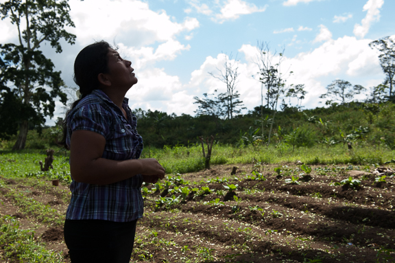 Teresa, a cacao farmer from Las Collinas, is resisting the forces of transience, migration, and the African palm oil industry in the Rio San Juan, Nicaragua.  (Photo by KJ Dakin)